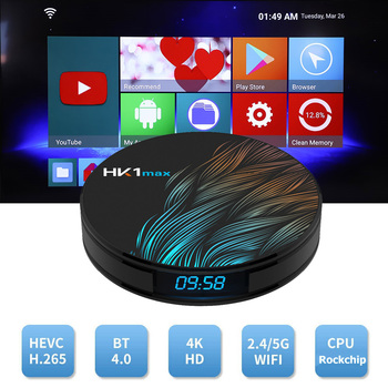 Android 9.0 Smart TV BOX HK1 MAX RK3318 DDR3 4G 64G TV Přijímače 4K 2.4 G/5G Dual Wifi, BT 4.0 Media Player, Play Store Set Top Box